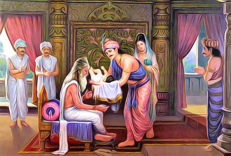 naissance de l'enfant bouddha et du bouddhisme