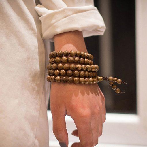 collier perle bouddhiste