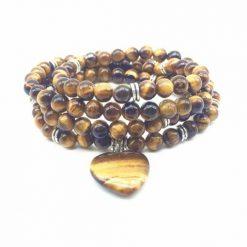 mala de 108 perles oeil de tigre naturelle pour la force spirituelle